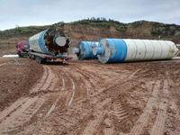 工地处理4台60吨 100吨水泥罐