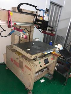 工厂急转港龙双伺服丝印机